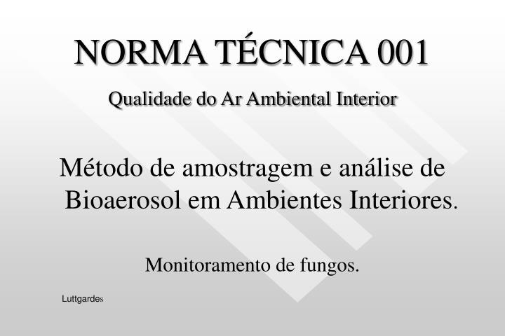 NORMA TÉCNICA 001