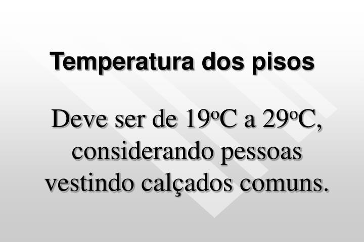 Temperatura dos pisos