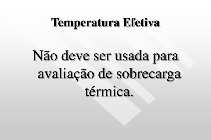 Temperatura Efetiva