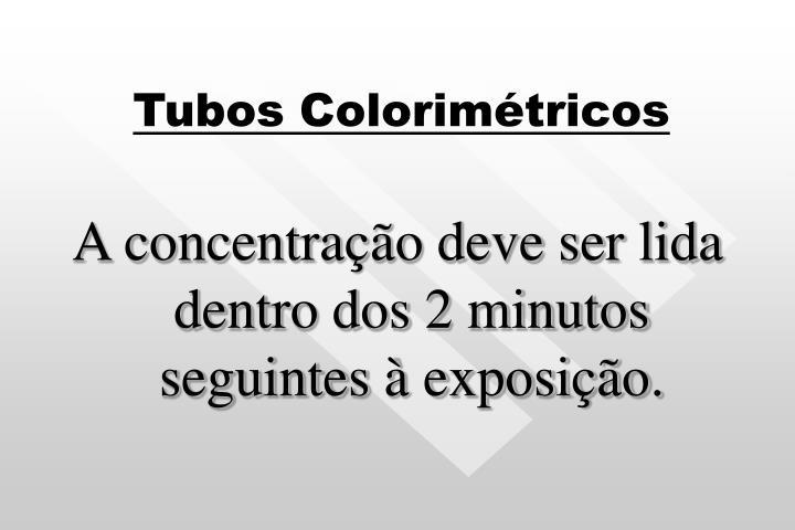 Tubos Colorimétricos