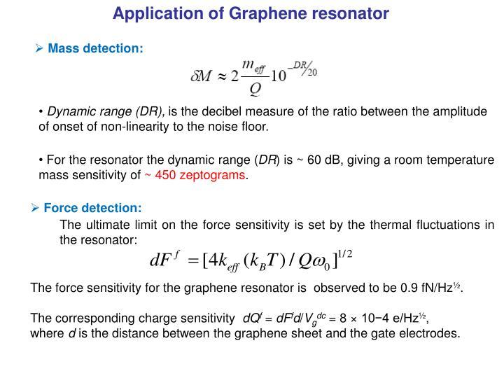 Application of Graphene resonator