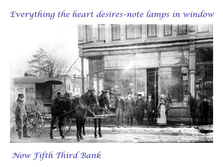 Everything the heart desires–note lamps in window