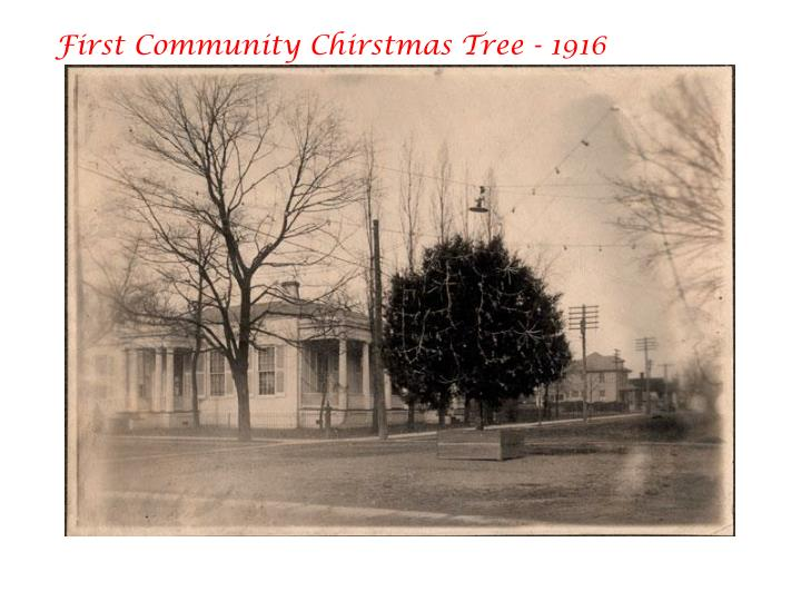 First Community Chirstmas Tree - 1916