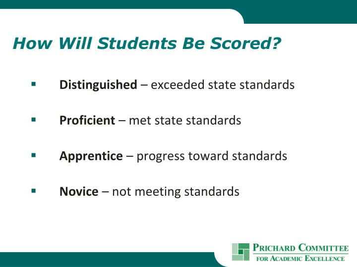 How Will Students Be Scored?