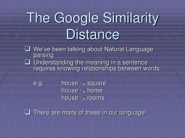 the google similarity distance n.