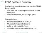 fpga synthesis summary