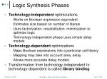logic synthesis phases