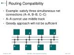 routing compatibility