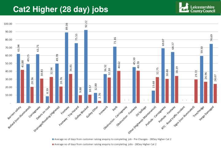 Cat2 Higher (28 day) jobs