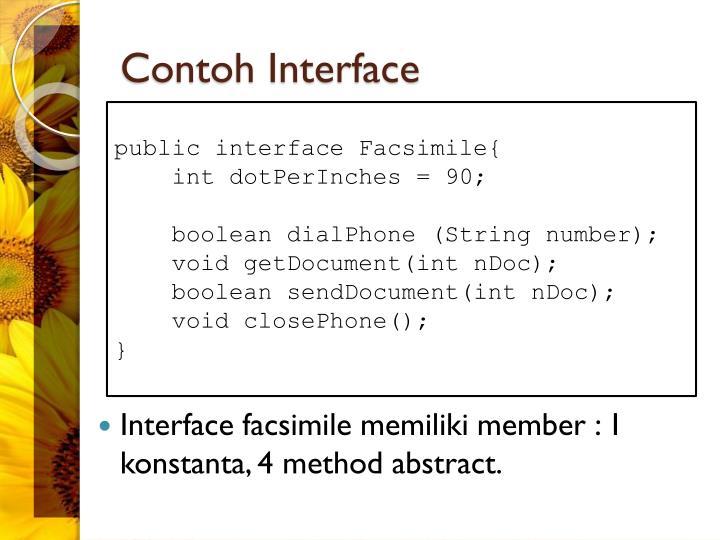 Contoh Interface