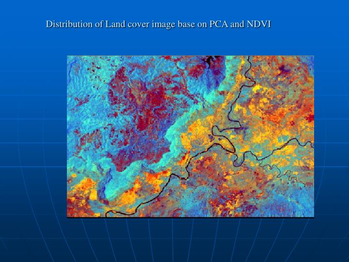 Distribution of Land cover image base on PCA and NDVI