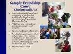 sample friendship court charlottesville va