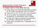 measurement of task frequency