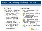affordable housing training program