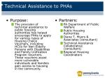 technical assistance to phas
