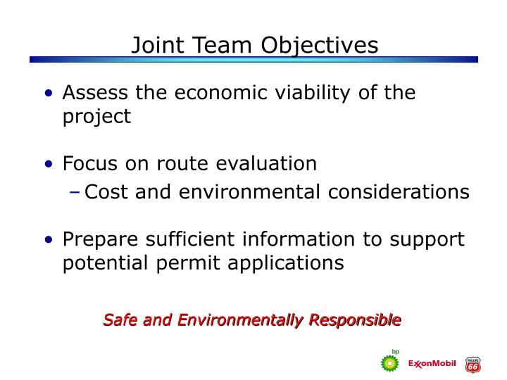 Joint team objectives