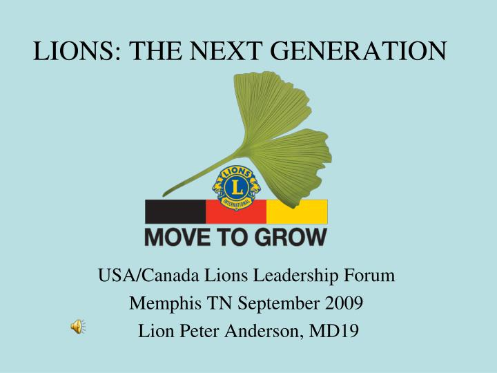lions the next generation n.