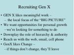 recruiting gen x