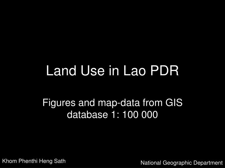 land use in lao pdr