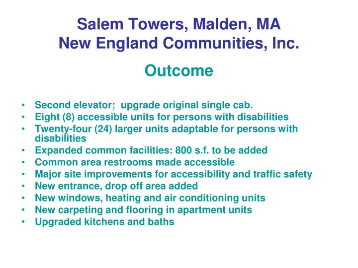 Salem Towers, Malden, MA
