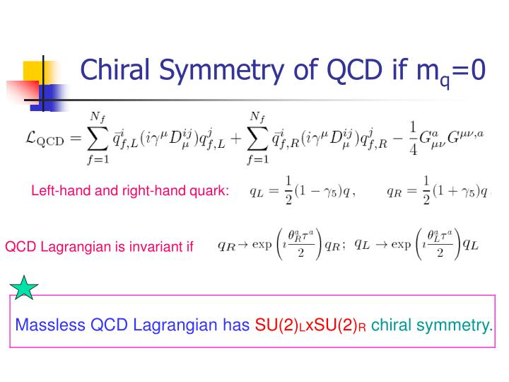 Chiral Symmetry of QCD if m