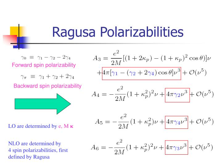 Ragusa Polarizabilities
