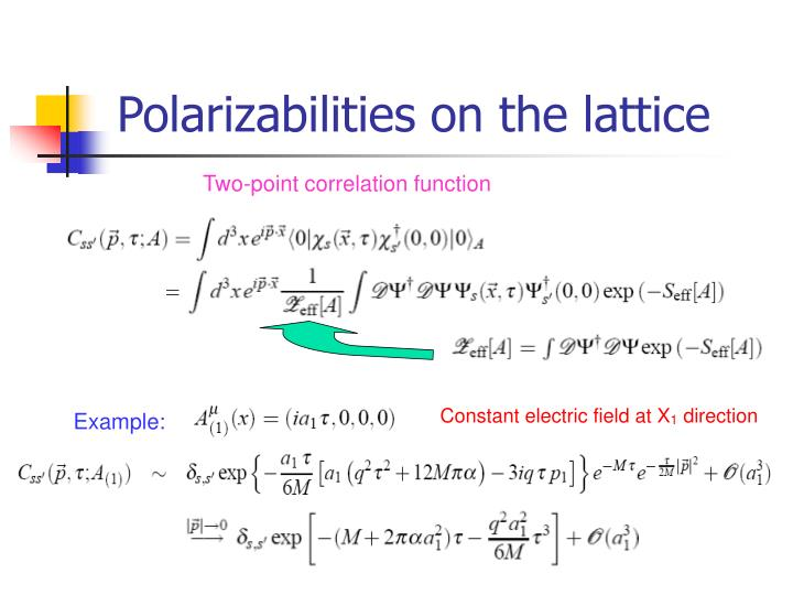 Polarizabilities on the lattice