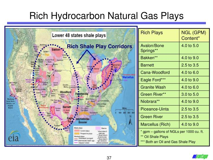Rich Hydrocarbon Natural Gas Plays