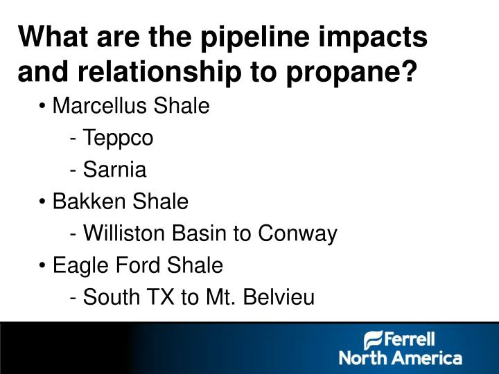 What are the pipeline impacts and relationship to propane?