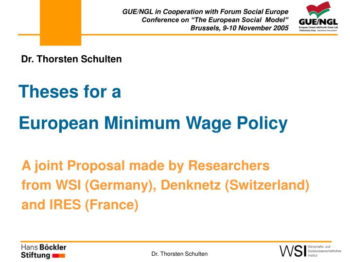 theses for a european minimum wage policy n.