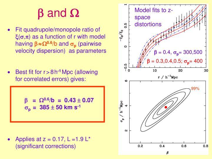 Fit quadrupole/monopole ratio of