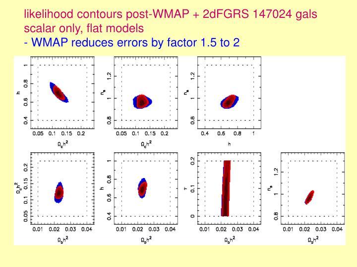 likelihood contours post-WMAP + 2dFGRS 147024 gals