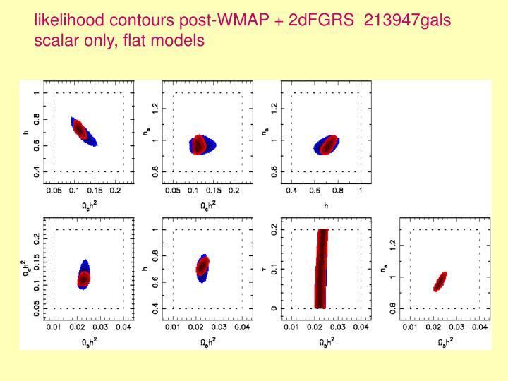 likelihood contours post-WMAP + 2dFGRS  213947gals