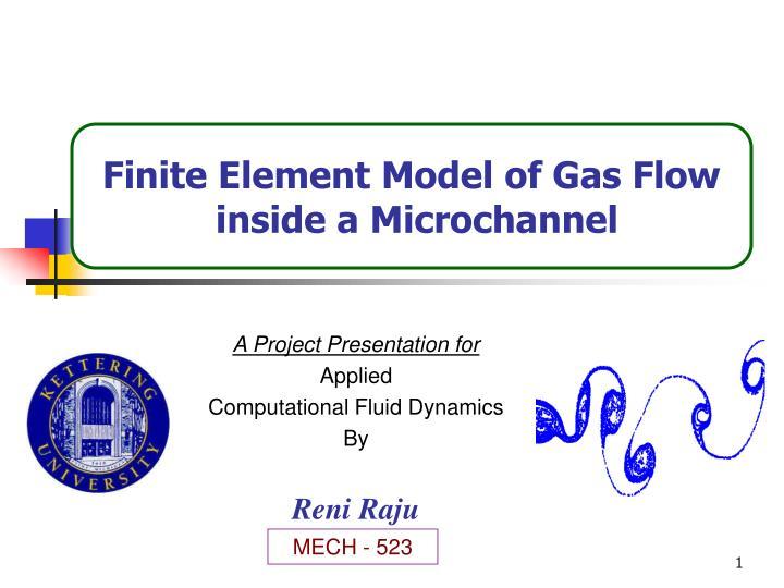 a project presentation for applied computational fluid dynamics by reni raju n.