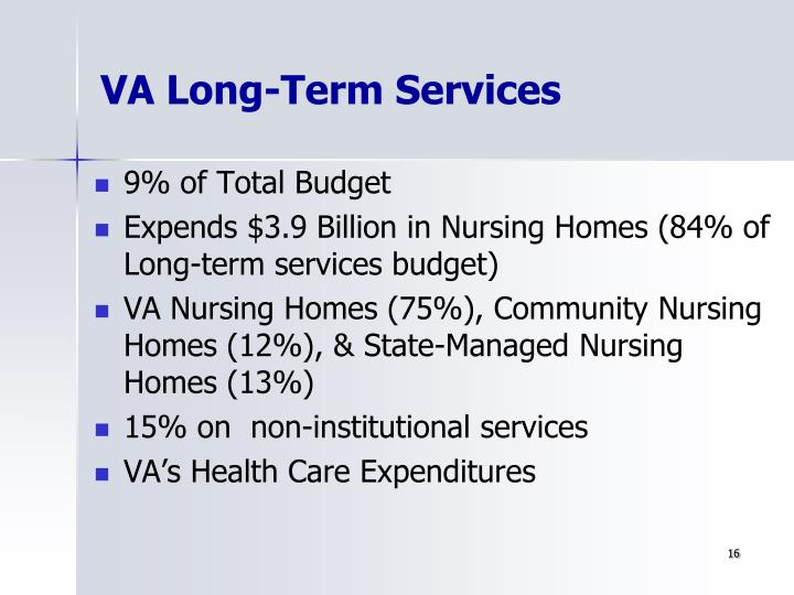 VA Long-Term Services