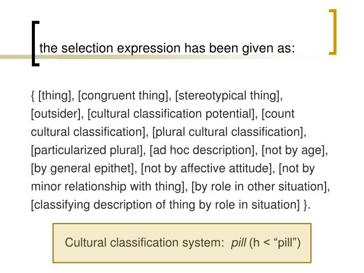 the selection expression has been given as: