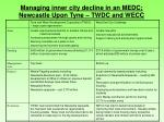 managing inner city decline in an medc newcastle upon tyne twdc and wecc2