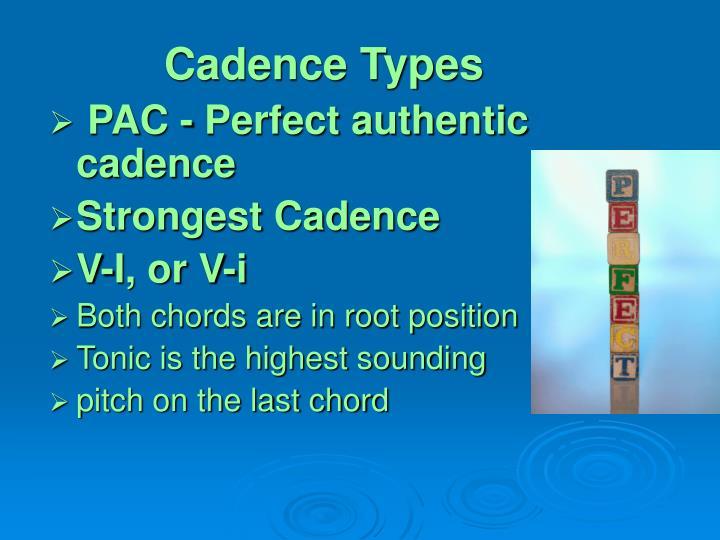 Cadence types