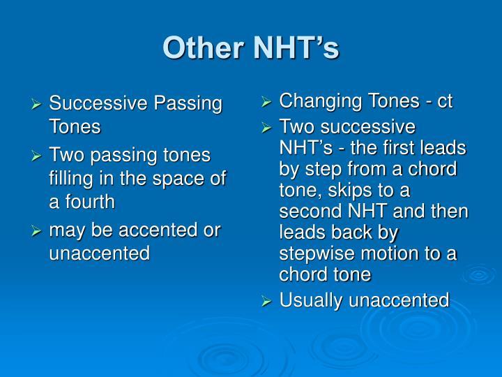 Successive Passing Tones