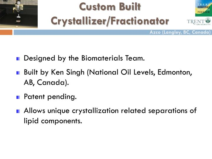 Custom Built Crystallizer/
