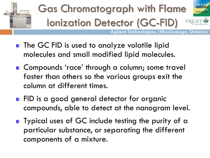 Gas Chromatograph with Flame Ionization Detector (GC-FID)