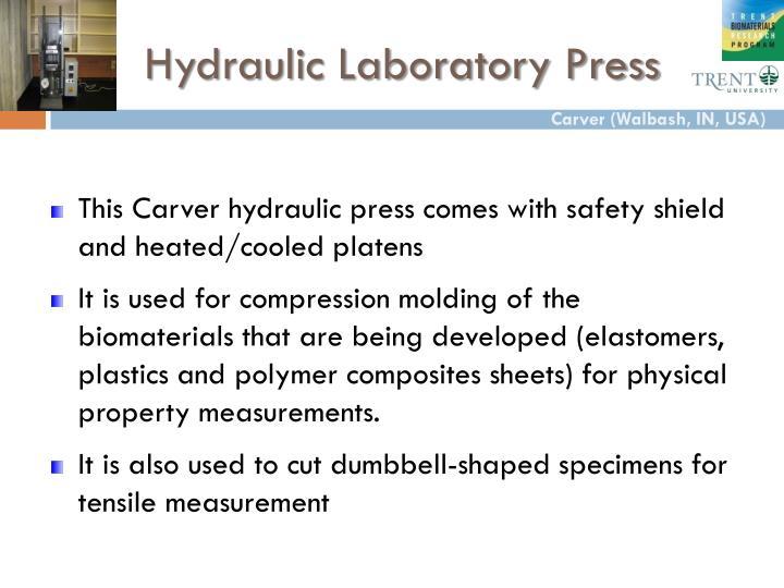 Hydraulic Laboratory Press