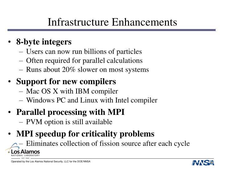 Infrastructure Enhancements
