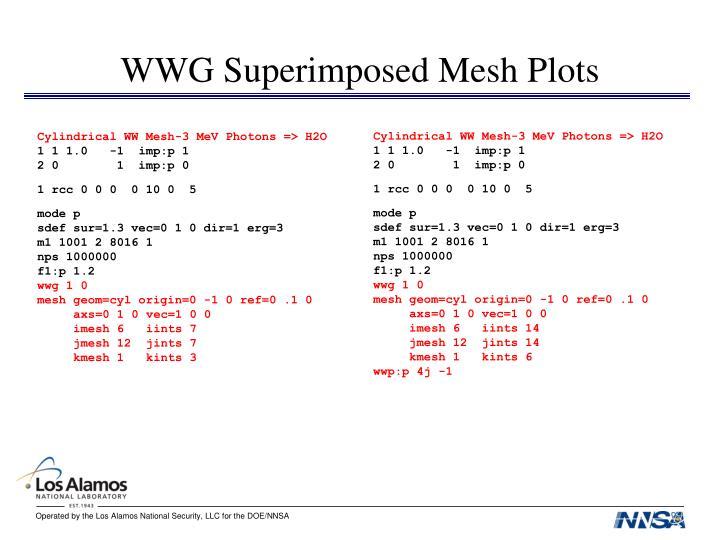 WWG Superimposed Mesh Plots