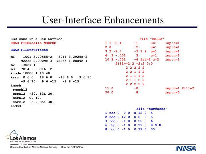 User-Interface Enhancements