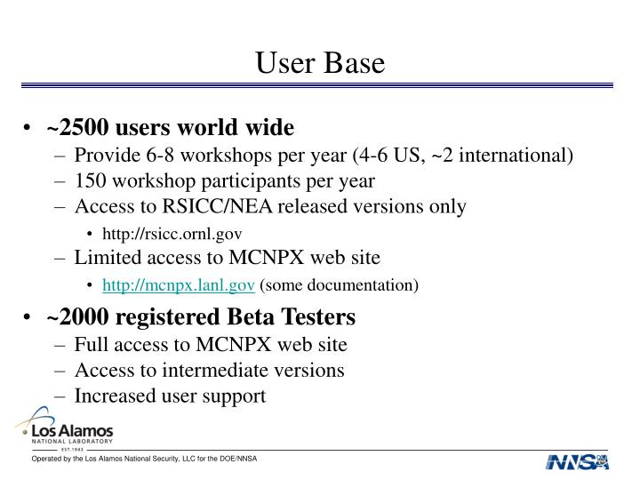 User Base