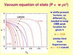 vacuum equation of state p w r c 2