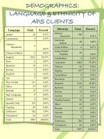 demographics language ethnicity of aps clients