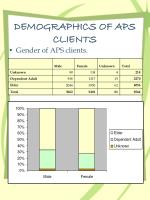 demographics of aps clients
