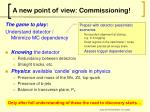 a new point of view commissioning